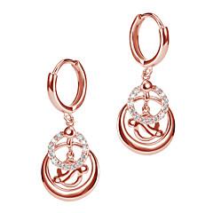 preiswerte Ohrringe-Damen Mehrschichtig Kreolen - 18K vergoldet, S925 Sterling Silber Zierlich Rotgold Für Ausgehen Festival