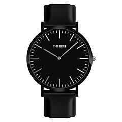 お買い得  メンズ腕時計-SKMEI 男性用 リストウォッチ 日本産 新デザイン / 耐水 / カジュアルウォッチ シリコーン バンド ファッション / ミニマリスト ブラック / 白 / レッド
