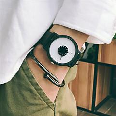 お買い得  メンズ腕時計-男性用 ドレスウォッチ リストウォッチ クォーツ 30 m 新デザイン クール レザー バンド ハンズ ヴィンテージ カジュアル ブラック / 白 - ホワイト ブラック ブラック / ホワイト 1年間 電池寿命 / ステンレス / SSUO 377