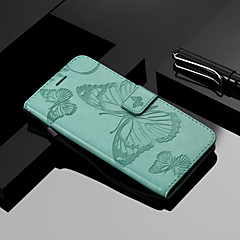 Недорогие Чехлы и кейсы для Xiaomi-Кейс для Назначение Xiaomi Redmi S2 / Mi 8 Кошелек / Бумажник для карт / со стендом Чехол Бабочка Твердый Кожа PU для Redmi Note 5A / Xiaomi Redmi Note 4X / Xiaomi Redmi Note 3