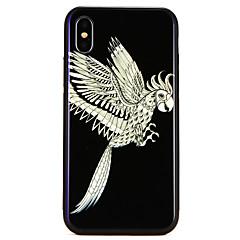 Недорогие Кейсы для iPhone 6-Кейс для Назначение Apple iPhone X / iPhone 8 С узором Кейс на заднюю панель Животное Твердый Закаленное стекло для iPhone X / iPhone 8 Pluss / iPhone 8