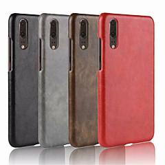 お買い得  Huawei Pシリーズケース/ カバー-ケース 用途 Huawei P20 / P20 Pro エンボス加工 バックカバー ソリッド ハード PUレザー のために Huawei P20 / Huawei P20 Pro / Huawei P20 lite