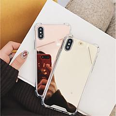 Недорогие Кейсы для iPhone X-Кейс для Назначение Apple iPhone X / iPhone 8 Защита от удара / Зеркальная поверхность Кейс на заднюю панель Однотонный Твердый ПК для iPhone X / iPhone 8 Pluss / iPhone 8