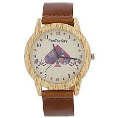 お買い得  レディース腕時計-Xu™ 女性用 ドレスウォッチ リストウォッチ クォーツ クリエイティブ カジュアルウォッチ 大きめ文字盤 PU バンド ハンズ ファッション ワードダイアル腕時計 ブラック / ブラウン / チョコレート - ブラック コーヒー Brown 1年間 電池寿命