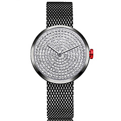 お買い得  レディース腕時計-女性用 リストウォッチ 中国 クロノグラフ付き / かわいい / 模造ダイヤモンド ステンレス バンド バングル / ミニマリスト ブラック / シルバー / ゴールド