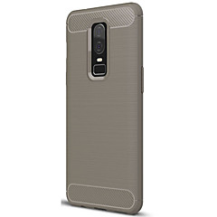 お買い得  その他のケース-ケース 用途 OnePlus OnePlus 6 つや消し バックカバー ソリッド ソフト TPU のために OnePlus 6