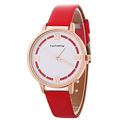 お買い得  レディース腕時計-Xu™ 女性用 リストウォッチ 中国 クリエイティブ / カジュアルウォッチ PU バンド カジュアル / ファッション ブラック / 白 / ブルー