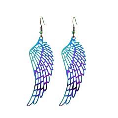 preiswerte Ohrringe-Damen Tropfen-Ohrringe - Edelstahl Tattoo Stil, Mehrfarbig, Hippie Regenbogen Für Geschenk Arbeit