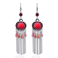 preiswerte Ohrringe-Damen Saphir Quaste Tropfen-Ohrringe - Tattoo Stil, Gothic, Hippie Rot / Grün / Blau Für Abschluss Verabredung