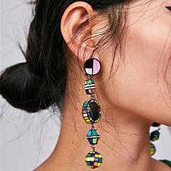 preiswerte Ohrringe-Damen Lang Tropfen-Ohrringe - Gesegnet damas Retro Böhmische Koreanisch Schmuck Blau / Rosa / Schwarz / weiss Für Party / Abend Formal 1 Paar
