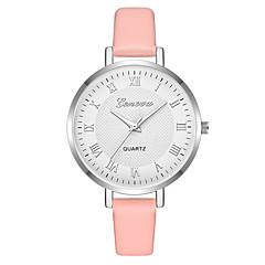 preiswerte Damenuhren-Geneva Damen Armbanduhr Chinesisch Neues Design / Armbanduhren für den Alltag / Cool Leder Band Freizeit / Modisch Schwarz / Braun / Grün
