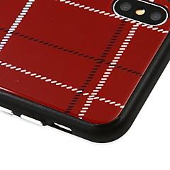 Недорогие Кейсы для iPhone-Кейс для Назначение Apple iPhone X С узором Кейс на заднюю панель Полосы / волосы Твердый Закаленное стекло для iPhone X / iPhone 8 Pluss / iPhone 8