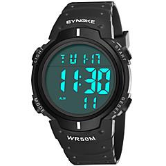 お買い得  メンズ腕時計-SYNOKE 男性用 スポーツウォッチ デジタルウォッチ デジタル 50 m 耐水 カレンダー クロノグラフ付き PU バンド デジタル ファッション ブラック / ブルー - グレー グリーン ブルー / ストップウォッチ / 夜光計
