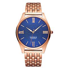 preiswerte Herrenuhren-YAZOLE Herrn Armbanduhr Quartz Rotgold Armbanduhren für den Alltag Cool Analog Luxus Minimalistisch - Weiß Schwarz Blau