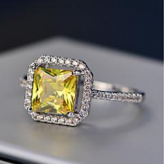 preiswerte Ringe-Damen Kubikzirkonia Stapel Ring - Kupfer 6 / 7 / 8 / 9 Gelb Für Verabredung Arbeit