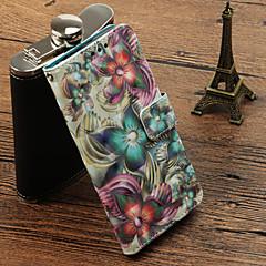 Недорогие Чехлы и кейсы для Huawei Mate-Кейс для Назначение Huawei Mate 10 pro / Mate 10 lite Бумажник для карт / со стендом / Флип Чехол Цветы Твердый Кожа PU для Mate 10 pro / Mate 10 lite