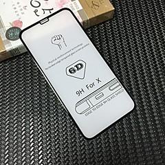 Недорогие Защитные пленки для iPhone X-Защитная плёнка для экрана для Apple iPhone X Закаленное стекло 2 штs Защитная пленка для экрана HD / Уровень защиты 9H / 3D закругленные углы