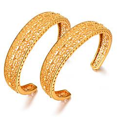 preiswerte Armbänder-Damen Klassisch Armreife / Manschetten-Armbänder - vergoldet Kreativ Luxus, Ethnisch Armbänder Gelb Für Party / Geschenk / 2pcs