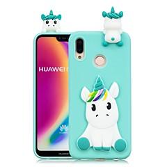 お買い得  Huawei Pシリーズケース/ カバー-ケース 用途 Huawei P20 Pro / P20 lite DIY バックカバー ユニコーン ソフト TPU のために Huawei P20 / Huawei P20 Pro / Huawei P20 lite / P10 Lite / P10