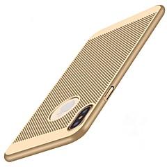 Недорогие Кейсы для iPhone 7-Кейс для Назначение Apple iPhone X / iPhone 8 Защита от удара / Ультратонкий Кейс на заднюю панель Однотонный Твердый ПК для iPhone X / iPhone 8 Pluss / iPhone 8