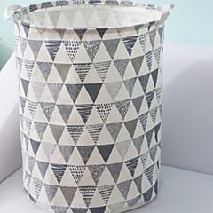 abordables Almacenamiento para Baño y Colada-Algodón / Poliéster Redondo Nuevo diseño / El modelo geométrico Casa Organización, 1pc Bolsa y Cubo para Colada