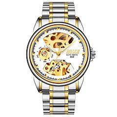 preiswerte Herrenuhren-BOSCK Mechanische Uhr Sender Wasserdicht, Transparentes Ziffernblatt, Nachts leuchtend Schwarz / Blau / Gold / Automatikaufzug