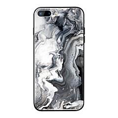 Недорогие Кейсы для iPhone 6 Plus-Кейс для Назначение Apple iPhone X / iPhone 8 Plus Зеркальная поверхность / С узором Кейс на заднюю панель Мрамор Твердый ТПУ / Закаленное стекло для iPhone X / iPhone 8 Pluss / iPhone 8