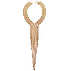 preiswerte Halsketten-Damen Quaste Halsketten / Lange Halskette - Strass Europäisch, Hyperbel, Modisch Gold, Silber 40 cm Modische Halsketten Schmuck 1pc Für Party