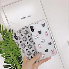Недорогие Кейсы для iPhone 7-Кейс для Назначение Apple iPhone X / iPhone 6 С узором Кейс на заднюю панель Плитка Мягкий ТПУ для iPhone X / iPhone 8 Pluss / iPhone 8