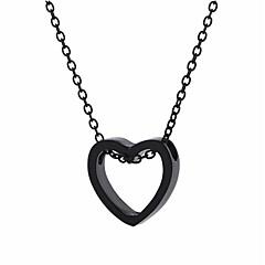 preiswerte Halsketten-Damen Einzelkette Anhängerketten / Charm Halskette - Herz Modisch, Koreanisch, nette Art Gold, Schwarz, Silber 48 cm Modische Halsketten 1pc Für Alltag, Strasse, Ausgehen