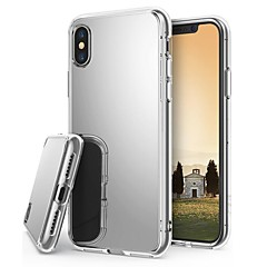 Недорогие Кейсы для iPhone X-Кейс для Назначение Apple iPhone X / iPhone 8 Plus Покрытие / Зеркальная поверхность / Ультратонкий Кейс на заднюю панель Однотонный Твердый Акрил для iPhone X / iPhone 8 Pluss / iPhone 8