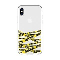 お買い得  iPhone 5S/SE ケース-ケース 用途 Apple iPhone X / iPhone 8 Plus パターン バックカバー ライン/ウェイブ ソフト TPU のために iPhone X / iPhone 8 Plus / iPhone 8