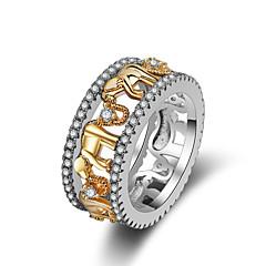 preiswerte Ringe-Damen Mehrschichtig Bandring - Elefant 6 / 7 / 8 Gold Für Karnival / Maskerade