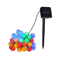 preiswerte LED Lichtstreifen-4,6 m Leuchtgirlanden 20 LEDs LED Diode Warmes Weiß / Mehrfarbig Solar / Dekorativ Solarbetrieben 1pc