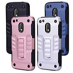 Недорогие Чехлы и кейсы для Motorola-Кейс для Назначение Motorola G4 Plus со стендом Кейс на заднюю панель Однотонный Твердый ПК для Мото G4 Plus