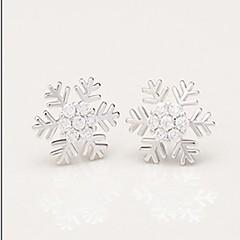 preiswerte Ohrringe-Damen Klassisch / Stilvoll Ohrstecker - Diamantimitate Schneeflocke Weiß Für Geschenk / Alltag