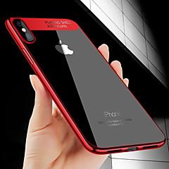 Недорогие Кейсы для iPhone 6 Plus-Кейс для Назначение Apple iPhone X / iPhone 8 Покрытие / Ультратонкий Кейс на заднюю панель Однотонный Мягкий ТПУ для iPhone X / iPhone 8 Pluss / iPhone 8