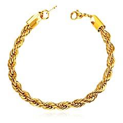 abordables Bijoux pour Femme-Homme Corde Bracelets - Acier inoxydable Menottes Mode Bracelet Or / Noir / Argent Pour Cadeau Quotidien