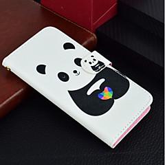 Недорогие Кейсы для iPhone 6-Кейс для Назначение Apple iPhone X / iPhone 8 Plus Кошелек / Бумажник для карт / со стендом Чехол Панда Твердый Кожа PU для iPhone X / iPhone 8 Pluss / iPhone 8