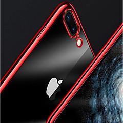 Недорогие Кейсы для iPhone 5-Кейс для Назначение Apple iPhone X / iPhone 8 Plus Покрытие / Прозрачный Кейс на заднюю панель Однотонный Мягкий ТПУ для iPhone X / iPhone 8 Pluss / iPhone 8