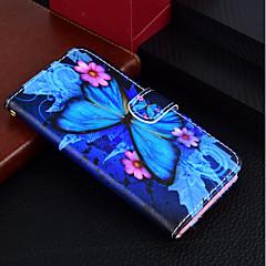 Недорогие Кейсы для iPhone 6-Кейс для Назначение Apple iPhone X / iPhone 8 Plus Кошелек / Бумажник для карт / со стендом Чехол Бабочка Твердый Кожа PU для iPhone X / iPhone 8 Pluss / iPhone 8