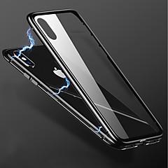 Недорогие Кейсы для iPhone 6 Plus-Кейс для Назначение Apple iPhone X / iPhone 8 Plus Прозрачный Кейс на заднюю панель Однотонный Твердый Металл для iPhone X / iPhone 8 Pluss / iPhone 8