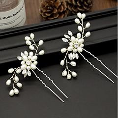 abordables Joyería para el Cabello-Mujer Cruzado Horquilla - Simple Floral