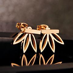 preiswerte Ohrringe-Damen Ohrstecker Gestlyte Ohrringe Vorne Hinten - Blume Grundlegend, Europäisch Silber / Golden Für Party Geburtstag Alltag
