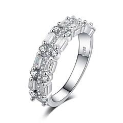 preiswerte Ringe-Damen Stilvoll Doppelte Schnur Bandring Ring - Platiert, Diamantimitate Glauben Modisch, Elegant, Franz?sisch 6 / 7 / 8 / 9 / 10 Weiß / Gelb / Violett Für Party Verabredung