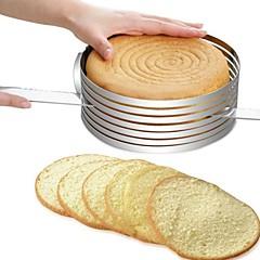 お買い得  ベイキング用品&ガジェット-ベークツール ステンレス+ABS樹脂 / ステンレス 多機能 / DIY パン / ケーキ / ケーキのための 円形 ケーキ型 / ケーキカッター 1個