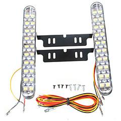 abordables Luces de Circulación Diurna-2pcs Coche Bombillas 10 W SMD 5050 850 lm 30 LED Luz de Circulación Diurna Para