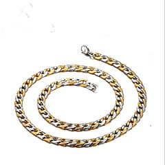 Недорогие Ожерелья-Муж. Стильные Цепочка - Титановая сталь Креатив Мода Cool Золотой, Серебряный 50 cm Ожерелье Бижутерия 1шт Назначение Подарок, Повседневные