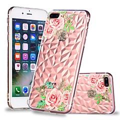 Недорогие Кейсы для iPhone 7 Plus-Кейс для Назначение Apple iPhone X / iPhone 8 Plus Прозрачный / С узором Кейс на заднюю панель Цветы Мягкий ТПУ для iPhone X / iPhone 8 Pluss / iPhone 8