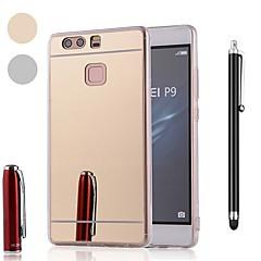 お買い得  Huawei Pシリーズケース/ カバー-ケース 用途 Huawei P20 / P10 耐衝撃 / メッキ仕上げ / ミラー バックカバー ソリッド ソフト プラスチック / メタル のために Huawei P20 / Huawei P20 Pro / Huawei P20 lite